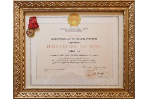 Huân chương Lao động hạng Nhì (2001)