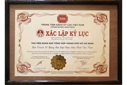 """Xác lập kỷ lục năm 2008 về """" Bức tranh Vẽ bằng màu sáp màu dài nhất Việt Nam"""