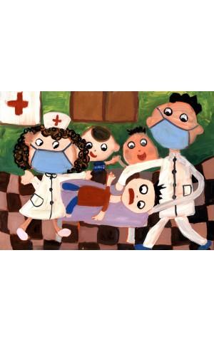 Bác sĩ chăm sóc các bệnh nhân nhiễm Covid-19