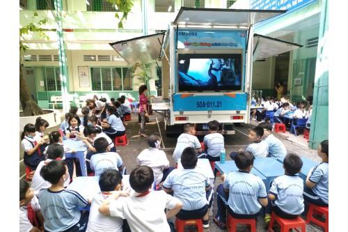 """Dự án """"Thư viện thông minh lưu động""""  Phục vụ đợt 02 / 2020 tại các Trường tiểu học trên địa bàn Quận Tân Bình - Tp. HCM"""