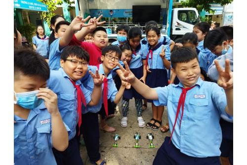 """Dự án """"Thư viện thông minh lưu động"""" Phục vụ đợt 09 / 2021 tại các Trường tiểu học trên địa bàn Quận Tân Bình - Tp. HCM"""