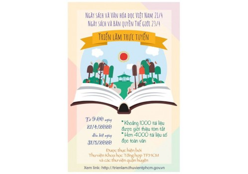 """Triển lãm trực tuyến nhằm hưởng ứng """"Ngày Sách và Văn hóa đọc Việt Nam 21/4; Ngày Sách và Bản Quyền Thế Giới 23/4"""""""
