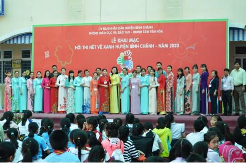 """Hội thi """"Nét vẽ xanh"""" huyện Bình Chánh năm 2020"""